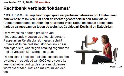 online dating sites moet verboden worden